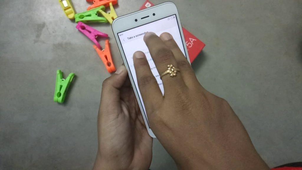 сделать скриншот на Xiaomi