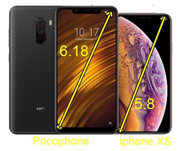 Pocophone f1 против iphone xs